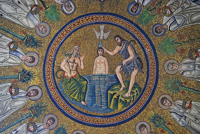 Baptisterium - Deckenmosaik