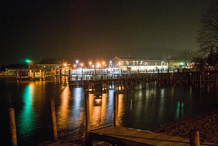Hafen Prien bei Nacht